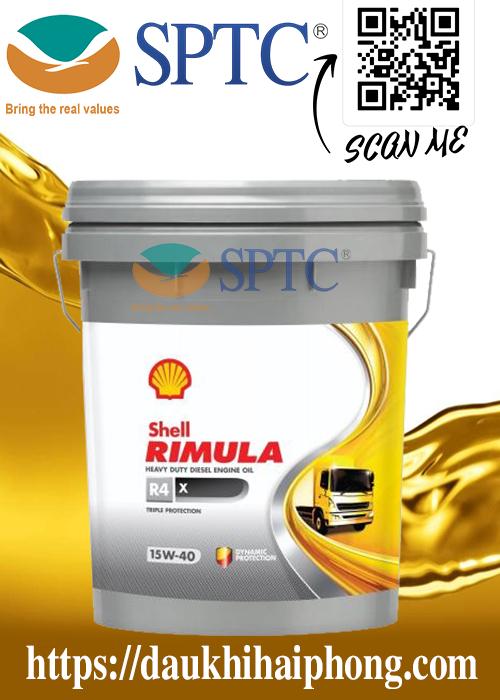 Dầu nhớt động cơ Shell Rimula R4 X 15W40 chính hãng tại Hải Phòng